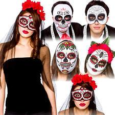 Giorno dei morti Maschere Costume Halloween Scheletro Teschio Uomo Donna Costume
