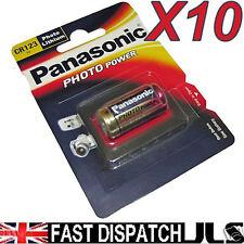 10 Panasonic CR123 LITHIUM Photo Batteries CR123A , 123