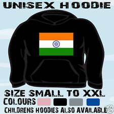 INDIAN Bandiera Emblema Unisex Felpa Con Cappuccio Felpa con Cappuccio