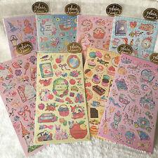 Shinny Stickers Love Wedding Animals Rose Flower Fairy Princess Scrapbooking DIY
