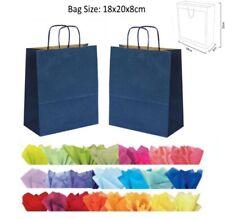 Bleu Marine Foncé Papier Sac Soirée - Pour Cadeau De Mariage Neuf & Tissu