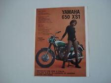 advertising Pubblicità 1971 MOTO YAMAHA 650 XS1 XS 1