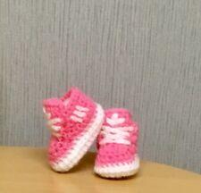 Hecho a mano de ganchillo botitas de bebé Zapatos Zapatillas Lana