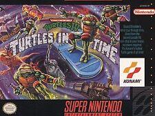 TEENAGE MUTANT NINJA TURTLES IV IN TIME Super Nintendo SNES Game Cartridge
