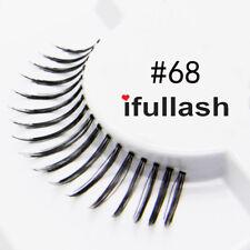 #68  6 or 12 pairs of ifullash 100% human hair Eyelashes- BLACK