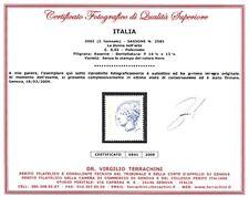 Italia Repubblica Varietà Donna nell'Arte Certific. **