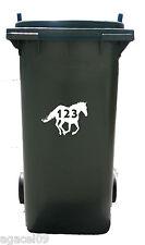 Sticky Vinile Autoadesivo Cavallo impennata Bin Numero Adesivo Decalcomania Stencil