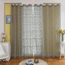 Sheer Screen Divider Door Window Tulle Curtain Printed Drape Leaf Valances ONE