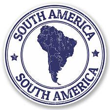 2 x South America Sticker Travel Luggage Tag Label Fun iPad Laptop Decal #5399