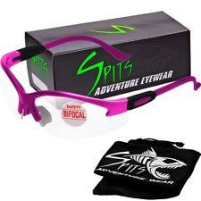 Cougar Bifocal Magnifying Safety Glasses Reading Glasses Dark Pink Frame