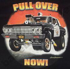 T-Shirt #736 PULL OVER, V8 HotRod Old School Musclecar Dragster DRAGRACING USA