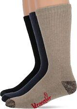 REDCAMP Moisture Wicking Mens Hiking Socks Cotton Thick Comfort Multi Performance Cushion Crew socks Size 9-11 3 Pairs