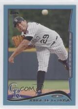 2014 Topps Wal-Mart Blue #520 Jorge de la Rosa Colorado Rockies Baseball Card