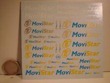 "DECALS 1/43 - 1/32 - 1/24 - 1/18 LOGOS "" MOVISTAR ""  - T242"