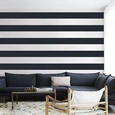 DIY Wall Stripes Decal Inspired Vinyl Living Room Office School Mural Decor Idea