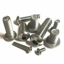 Tornillo de cabeza de botón de zócalo M6-A2 De Acero Inoxidable-Hex Allen Socket-Dome 6 mm