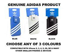 Genuine Adidas Delgado Medio Manga Bolsa Cubierta Para iPhone 2G 3GS 4 4S 5 5 5S SE C