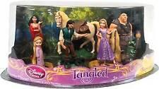 Disney Tangled Rapunzel Pascal 7 Piece Figurine Set Cake Topper - NEW -