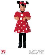 Ratón Disfraz de ratón + sombrero rojo/blanco talla 98-110