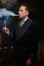 New Mens Vintage Luxury Smoking Jackets Evening Velvet Blazer Dinner Coat Jacket