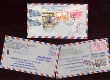 Perú 1964-8 correo aéreo registrado cubre a los Estados Unidos X 3