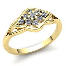 0.75ctw Round Cut Diamond Ladies Cluster Halo Promise Anniversary Ring 14K Gold