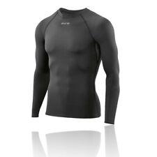 Skins Mens DNAmic Force Compression Long Sleeve Top Black Sports Gym Running