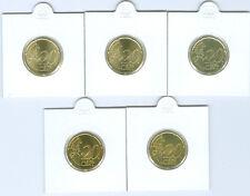 RFA 20 Cent ADFGJ pièce de monnaie (Choisissez entre: 2002 - 2017)