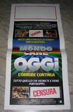 LOCANDINA, MONDO CANE OGGI '85 MAX STEEL, MONDO MOVIE POSTER AFFICHE