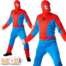 CLASSIC SPIDERMAN Adulti Costume Marvel Fumetti Supereroi Uomo Costume Outfit