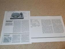 Thorens TD-147 Turntable Review, 2 pg, 1984, Full Test, Specs, Info