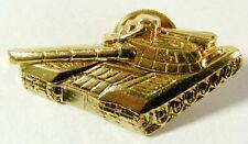 Russian T-80 Tank Metal Military Badge Screwback