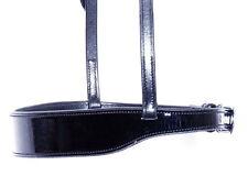 FSS Traditional Flat 4cm Hunter Show PATENT CUT AWAY Cavesson Noseband Twin Buck