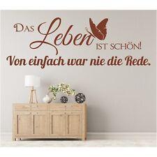 Wandtattoo Spruch  Das Leben ist schön von Wandsticker Wandaufkleber Sticker 3