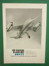 5/1964 PUB DOWTY VJ101 X1 VTOL AIRCRAFT FLUGZEUG HANNOVER ORIGINAL GERMAN ADVERT