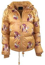 New Womens Brave Soul Zip Padded Floral Puffer Hooded Winter Ladies Jacket Coat