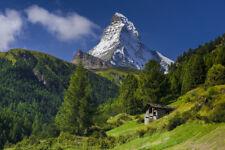 Fototapete Matterhorn Alpen Schweiz - Kleistertapete oder Selbstklebende Tapete