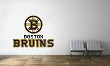 Boston Bruins Logo Wall Decal NHL Hockey Decor Sport Vinyl Art Mural Sticker