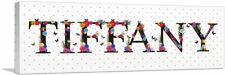ARTCANVAS TIFFANY Girls Name Room Decor Canvas Art Print