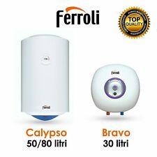 Scaldabagno elettrico 50 litri Boiler 80 scaldino 30 lt accumulo Ferroli VE