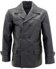 homme noir Allemand Naval Dr Who VACHE Hide cuir pois manteau
