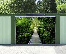 3D Forêt Bois Route 921 Garage Porte Peint en Autocollant Murale AJ WALLPAPER FR