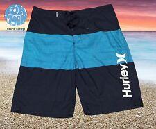 New Hurley Men's Black Striped  Mens Boardshort