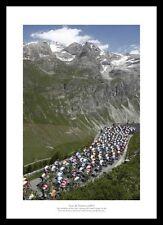 Tour de France 'Alpine Pass' Cycling Photo Memorabilia (RE353)