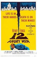 12 ANGRY MEN VINTAGE MOVIE POSTER  FILM A4 A3 ART PRINT CINEMA