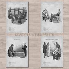 Sidney Paget / Sherlock Holmes A4 canvas paper / poster prints. Conan Doyle.