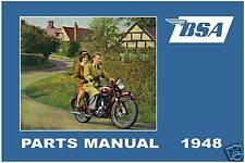 BSA Parts Manual All Models 1948 C10 C11 B31 B32 B33 B34 M20 M21 M33 A7 Catalog