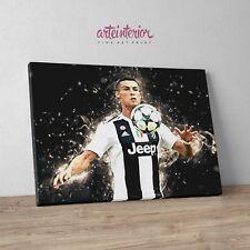 Quadro Cristiano Ronaldo CR7 Juventus - Stampa Giclee Fine Art su tela Canvas