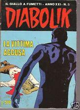 \DIABOLIK ORIGINALE-ANNO XXI n° 5- 1982 -RARO! ///