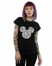 Disney Women's Mickey Mouse Head Of Hands T-Shirt